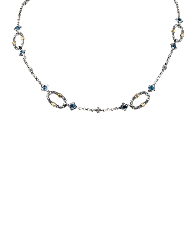 Delos London Blue Topaz Necklace