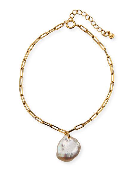 Tai Chunky Chain Pearl Bracelet