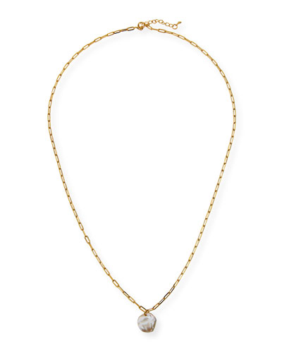 Chunky Chain Pearl Necklace