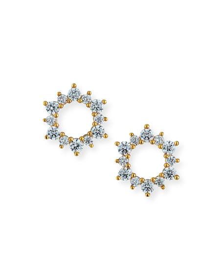 Tai Cubic Zirconia Circle Burst Stud Earrings