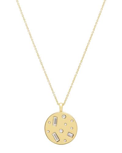Desi Crystal Coin Pendant Necklace