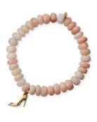 Sydney Evan 14k Diamond Stiletto & Pink Opal