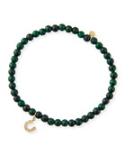 Sydney Evan 14k Diamond Horseshoe & Malachite Bracelet