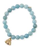 Sydney Evan 14k Aquamarine Ruby-Buddha Bracelet