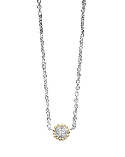 Diamonds & Caviar Pendant Necklace