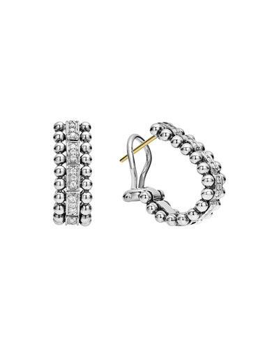 Caviar Spark Diamond Huggie Earrings