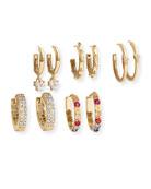 BaubleBar Liza Huggie Hoop Earrings, Set of 5