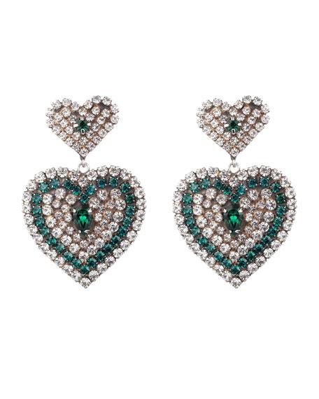 Dannijo Amo Crystal Heart Earrings