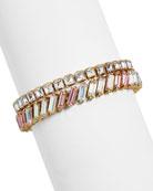 BaubleBar Lynx Crystal Bracelets, Set of 2