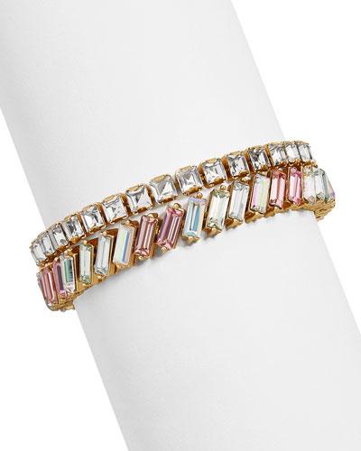 Lynx Crystal Bracelets, Set of 2