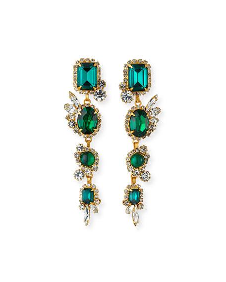 Elizabeth Cole Milly Linear Earrings