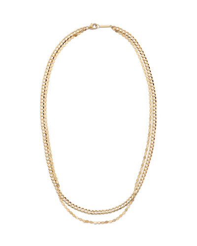 14k Double-Strand Curb-Link Necklace