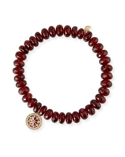 14k Garnet Diamond/Sapphire Kaleidoscope Bracelet