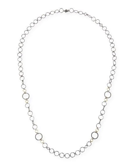 Armenta Old World Long Alternating Circle-Link Necklace