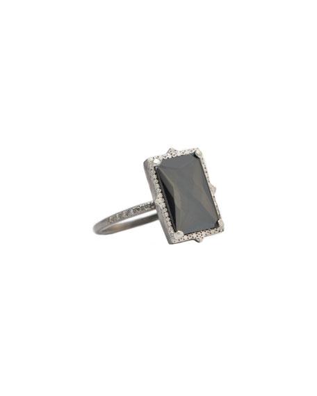 Armenta New World Rectangular-Doublet Ring, Size 6.5