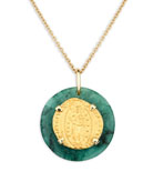 Dubini 18k Venetian Ducat Medallion Necklace