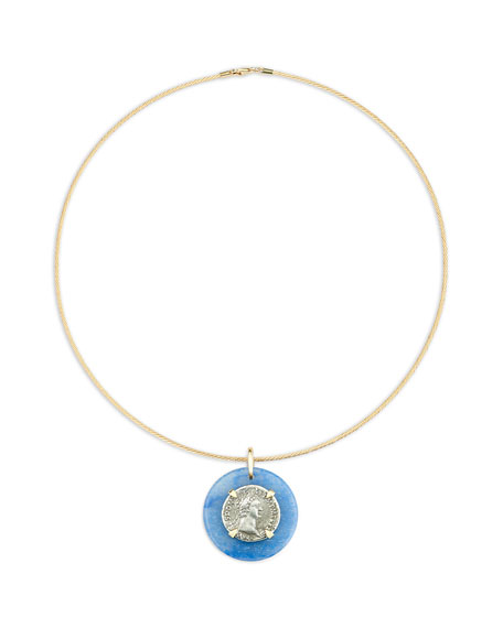 Dubini 18k Domitian-Era Denarius Coin Choker Necklace