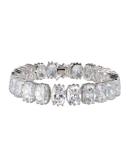 Golconda by Kenneth Jay Lane Oval Cubic Zirconia Tennis Bracelet