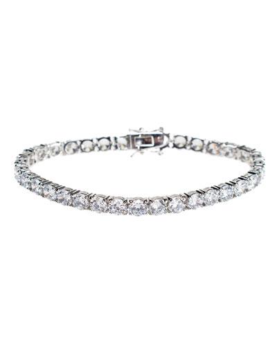 Round Cubic Zirconia Tennis Bracelet