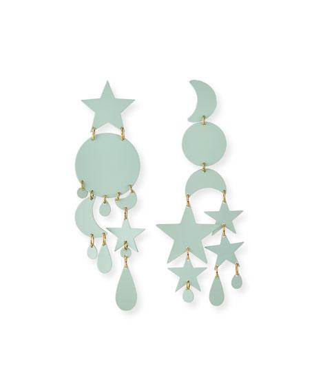 We Dream in Colour Twilight Mismatch Earrings, Mint