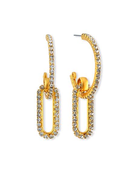 Elizabeth Cole Charlisle Crystal-Link Hoop Earrings