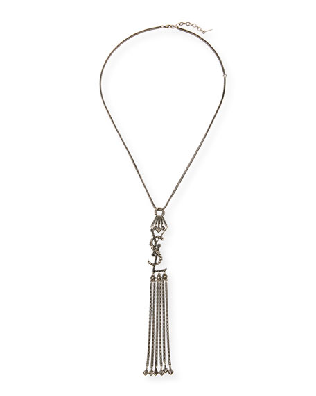 Saint Laurent YSL Tassel Pendant Necklace