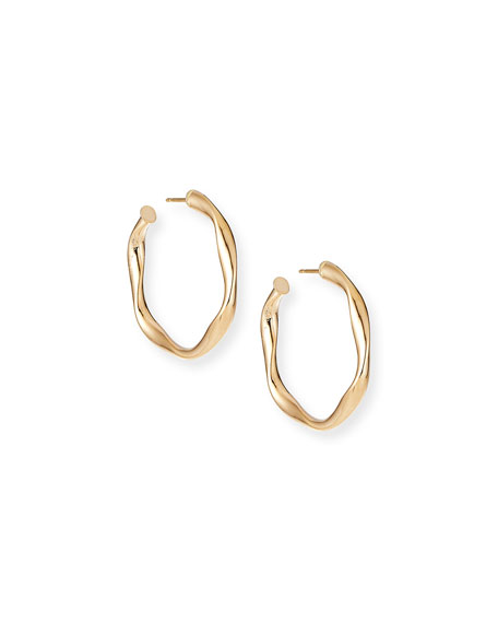 Lana 14k Wide Wave Twist Hoop Earrings