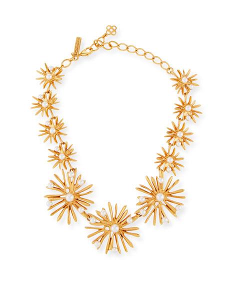 Oscar de la Renta Classic Pearly Starburst Necklace