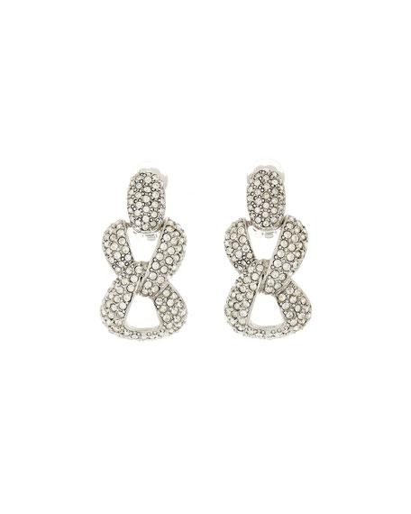 Oscar de la Renta Pave Chain-Link Earrings