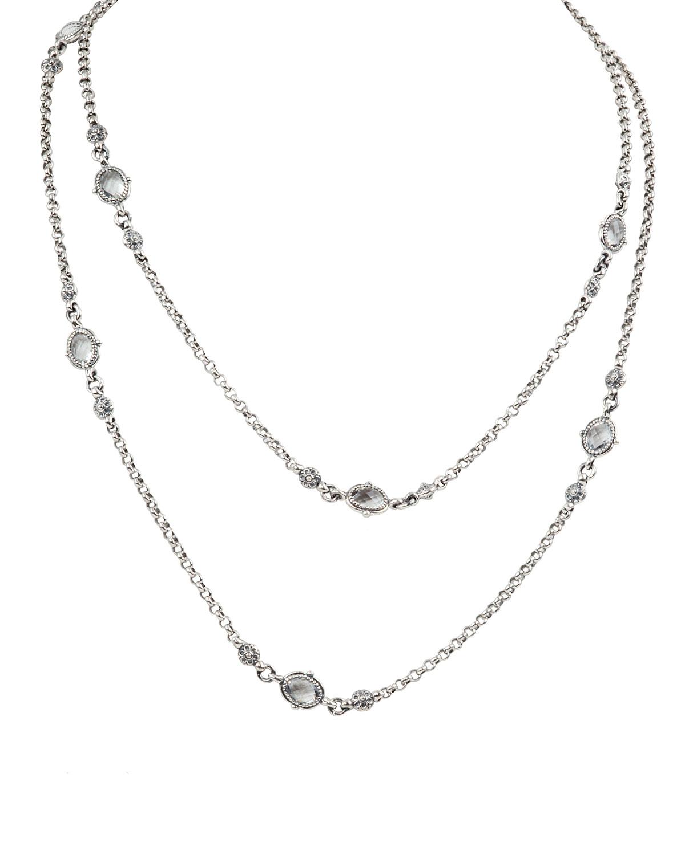 Pythia Crystal Oval Station Necklace