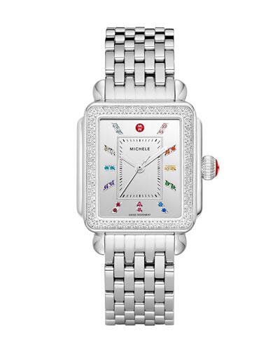 18mm Deco Carousel Stainless Steel Diamond Watch