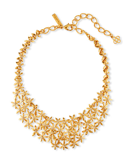 Oscar de la Renta Pointed Flower Necklace