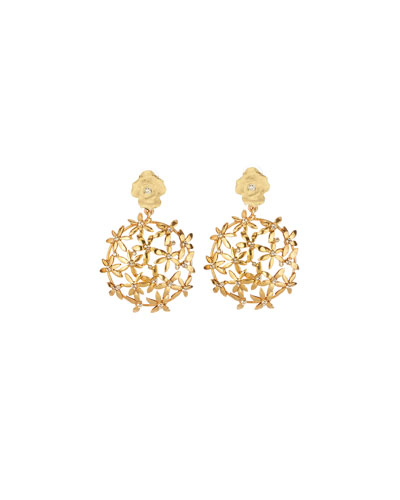 Pointed Flower Cluster Earrings