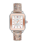 MICHELE Deco Sport Iridescent 2-Tone Pink Gold &