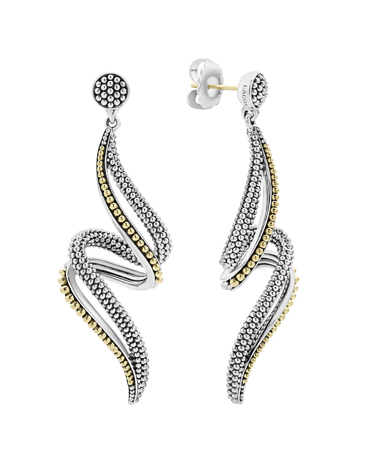 Lagos  SIGNATURE CAVIAR TWISTING SWIRL DROP EARRINGS