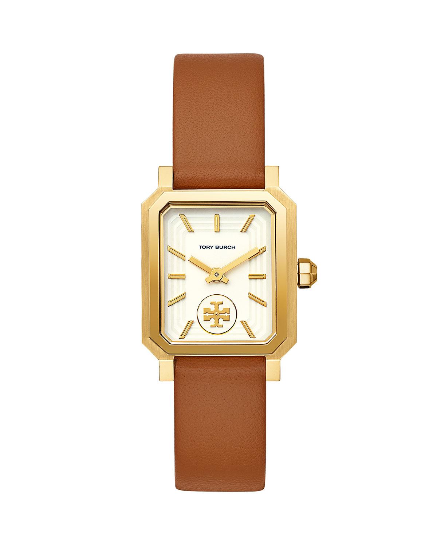 27mm Robinson Leather Watch w/ Moving Logo
