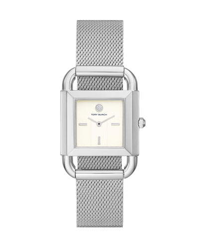 Phipps 2-Hand Stainless Steel Mesh Watch