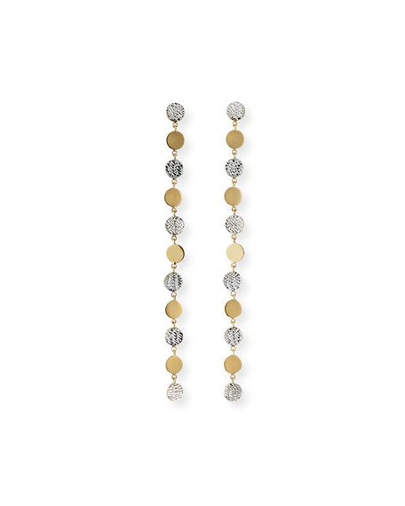 Jennifer Zeuner Benita Linear Two-Tone Earrings