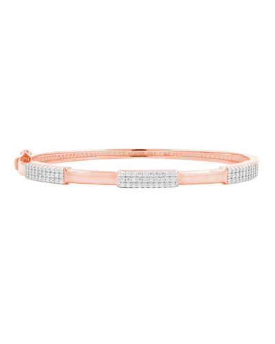 Radiance Thin Hinge Bangle, Rose Gold