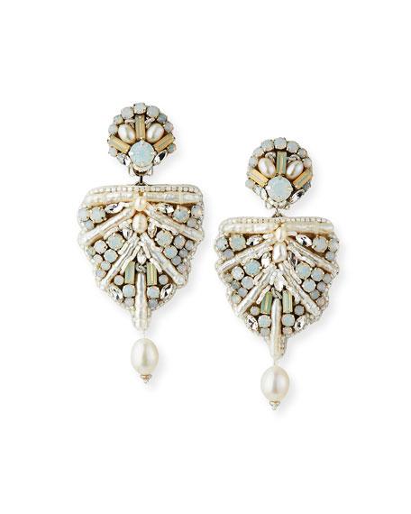 Ranjana Khan Naomi Mixed-Pearl Clip Earrings