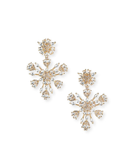 Fallon Snowflake Crystal Chandelier Earrings