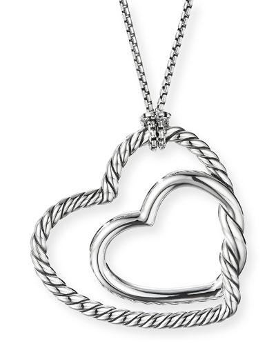 evening mist Personalized Customized Engraved Heart-Shaped Photo Necklace Inlaid Gemstones