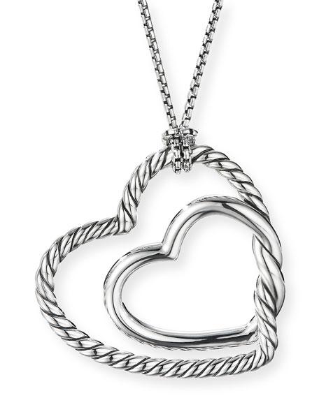 David Yurman Continuance Heart Pendant Necklace