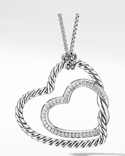 Continuance Diamond Heart Pendant Necklace