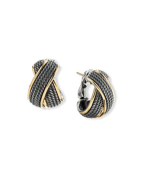 David Yurman Origami Crossover Earrings