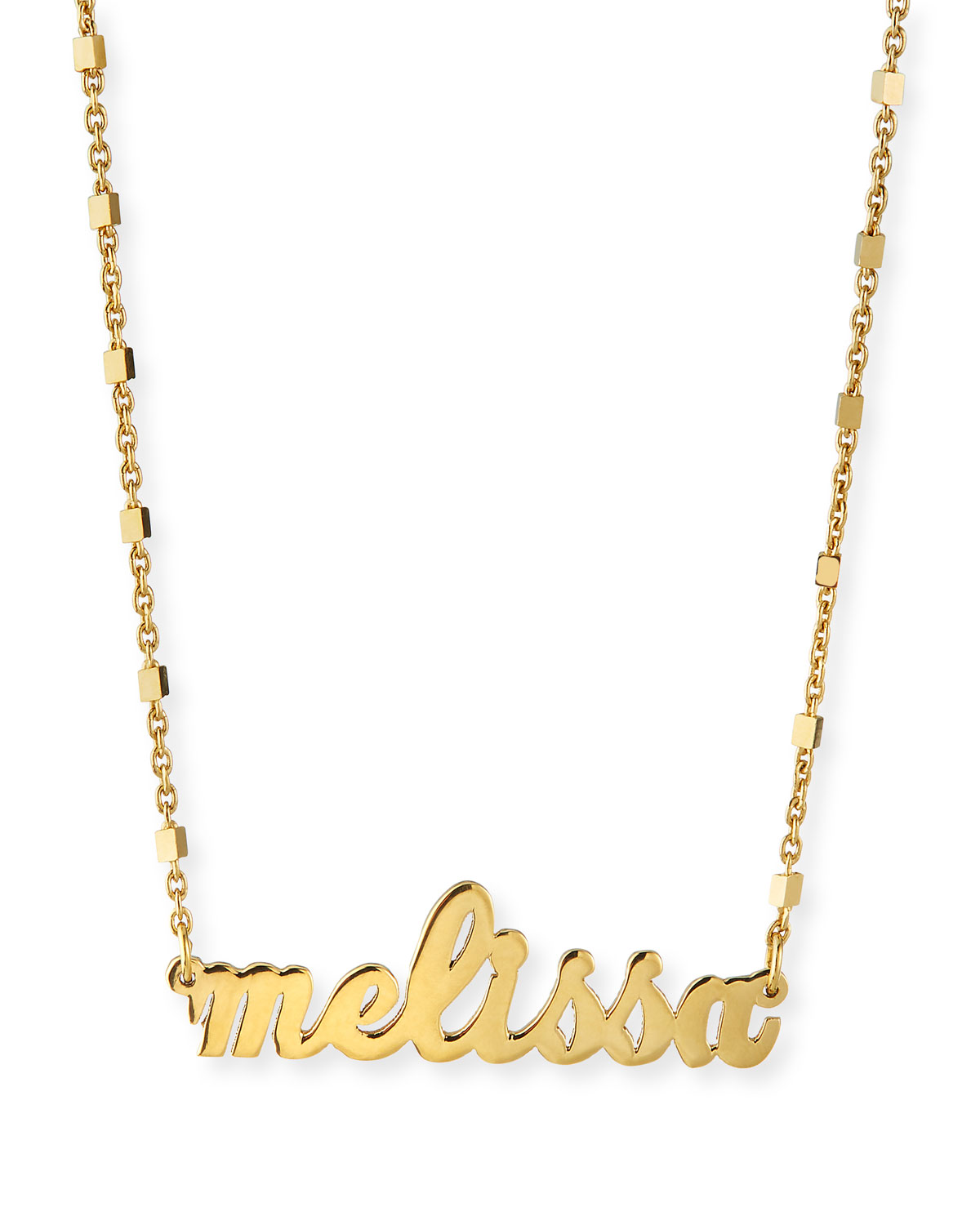 Riviera Personalized Nameplate Necklace