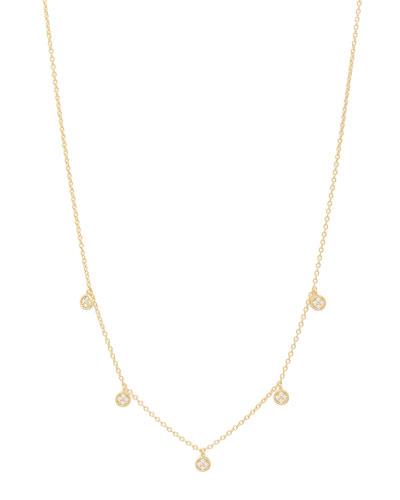 Pristine Pave 5-Disc Necklace