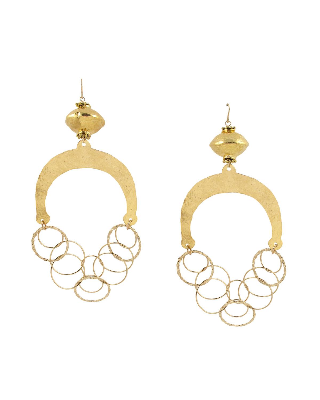Hammered Wedge Chandelier Earrings