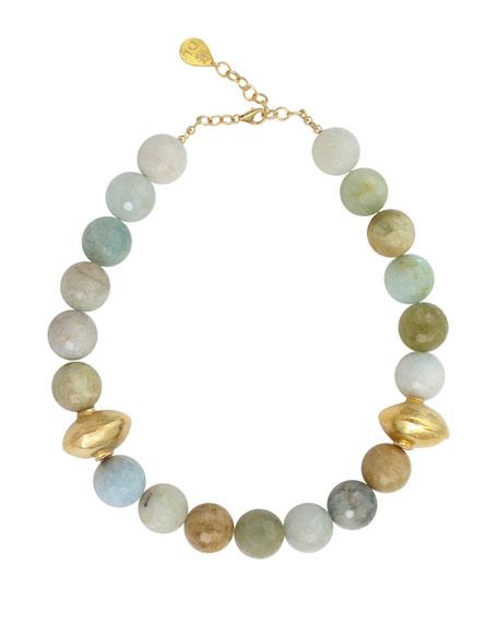 Devon Leigh Faceted Aquamarine Necklace