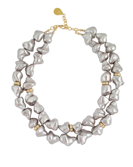 Devon Leigh Pearly 2-Strand Necklace